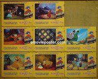 F033 AMERICAN TAIL 8 English lobby cards '86 Spielberg, Bluth