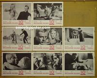 F007 10th VICTIM 8 lobby cards '65 Ursula Andress