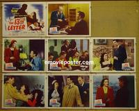 F009 13TH LETTER 8 lobby cards '51 Otto Preminger, Darnell