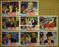 F011 2 FACES OF DR JEKYLL 8 lobby cards '60 Hammer