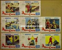 F013 3 RING CIRCUS 8 lobby cards '54 Dean Martin & Jerry Lewis
