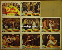 F017 6 LESSONS FROM MADAME LA ZONGA 8 lobby cards '41 Lupe Velez