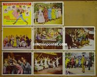 F018 7 BRIDES FOR 7 BROTHERS 8 lobby cards R60s Powell