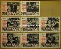 F019 7 DAYS IN MAY 8 lobby cards '64 Burt Lancaster, Fredric March