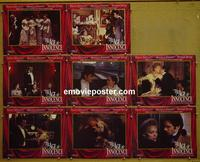 F025 AGE OF INNOCENCE  8 lobby cards '93 Scorsese, Day-Lewis