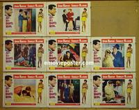 F030 ALL IN A NIGHT'S WORK 8 lobby cards '61 Dean Martin
