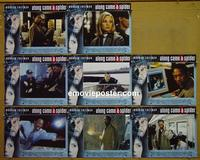 F032 ALONG CAME A SPIDER  8 lobby cards '01 Morgan Freeman