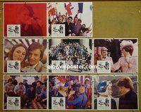 F034 AND NOW MY LOVE 8 lobby cards '75 Claude Lelouch