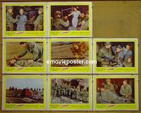 F040 ATTACK  8 lobby cards '56 Palance. Robert Aldrich