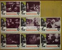 F047 BANDITS IN ROME 8 lobby cards '68 John Cassavetes