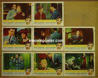 F072 BEYOND A REASONABLE DOUBT 8 lobby cards '56 Fritz Lang