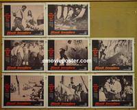 F077 BLACK INVADERS 8 lobby cards '63 AIP adventure