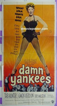Imp Damn Yankees besides Archie Bunkers Place Dvd Cover Md together with B F Cfb Adb B Adc E as well Sh Damn Yankees also Damn Yankees Us Three Sheet Movie Poster X. on damn yankees us movie poster