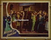 L028 HOUSE OF DRACULA lobby card '45 great Frankenstein image!
