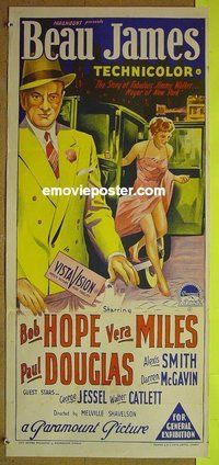 Beau James Bob Hope Vera Miles vintage movie poster #1