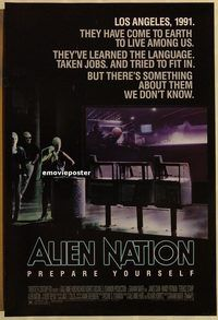 h302 ALIEN NATION one-sheet movie poster '88 James Caan, Mandy Patinkin