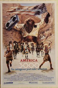 h174 AMERICA 3000 one-sheet movie poster '86 Amazons rule Colorado!