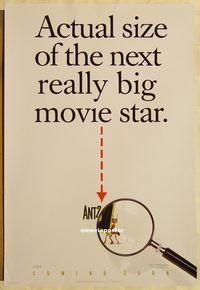 h216 ANTZ DS advance one-sheet movie poster '98 Woody Allen, Stallone