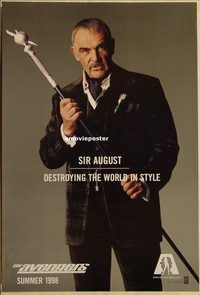 h219 AVENGERS DS teaser one-sheet movie poster '98 Connery as Sir August!