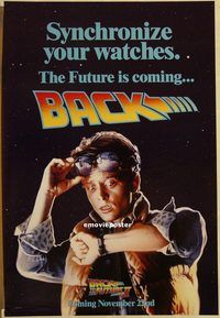 h220 BACK TO THE FUTURE 2 DS 'watch' teaser one-sheet movie poster '89 Fox