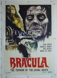 h048 BEYOND THE LIVING DEAD linen Italian one-sheet movie poster '74 Bracula!