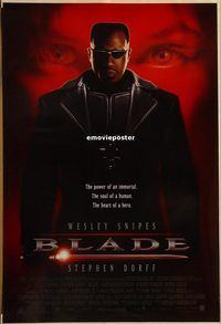 h228 BLADE DS one-sheet movie poster '98 Wesley Snipes, vampires!