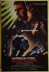 h178 BLADE RUNNER one-sheet movie poster '82 Harrison Ford, Rutger Hauer
