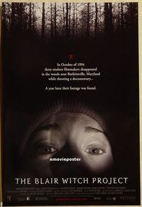 h308 BLAIR WITCH PROJECT one-sheet movie poster '99 cult classic!