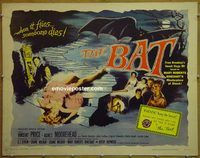h115 BAT half-sheet movie poster '59 Vincent Price, Agnes Moorehead