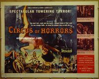 h120 CIRCUS OF HORRORS half-sheet movie poster '60 AIP, Anton Diffring