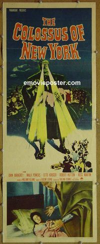h082 COLOSSUS OF NEW YORK insert movie poster '58 Mala Powers