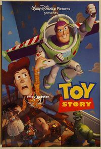 h291 TOY STORY DS teaser one-sheet movie poster '95 Disney, Hanks, Allen