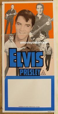 p331 ELVIS PRESLEY stock Australian daybill movie poster 70s rock n roll