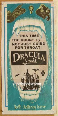 k557 DRACULA SUCKS Australian daybill movie poster 79 adult sexy horror
