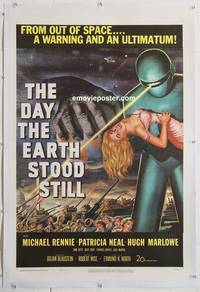 p007a DAY THE EARTH STOOD STILL linen 1sh '51 classic!