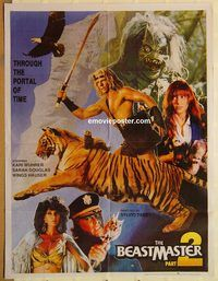 s084 BEASTMASTER 2 style B Pakistani movie poster '91 Marc Singer