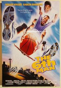 f005 6TH MAN DS one-sheet movie poster '97 Marlon Wayans, basketball