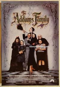 f012 ADDAMS FAMILY one-sheet movie poster '91 Raul Julia, Christina Ricci
