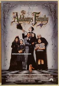 f013 ADDAMS FAMILY DS one-sheet movie poster '91 Julia, Christina Ricci