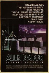 f020 ALIEN NATION one-sheet movie poster '88 James Caan, Mandy Patinkin