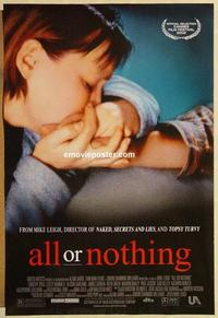 f022 ALL OR NOTHING DS one-sheet movie poster '02 Mike Leigh, Timothy Spall