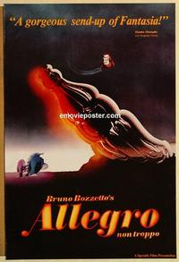 f023 ALLEGRO NON TROPPO one-sheet movie poster '76 Bruno Bozzetto musical!