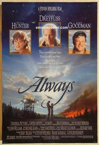 f025 ALWAYS DS one-sheet movie poster '89 Steven Spielberg, Dreyfuss
