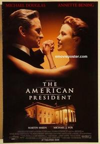 f028 AMERICAN PRESIDENT DS advance one-sheet movie poster '95 Douglas, Bening