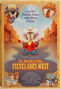 f029 AMERICAN TAIL: FIEVEL GOES WEST DS one-sheet movie poster '91 Spielberg