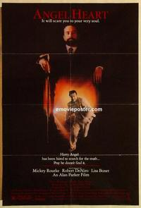 f033 ANGEL HEART one-sheet movie poster '87 Robert DeNiro, Mickey Rourke