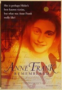 f035 ANNE FRANK REMEMBERED one-sheet movie poster '95 Holocaust documentary!