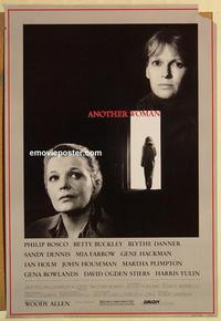 f036 ANOTHER WOMAN one-sheet movie poster '88 Woody Allen, Gena Rowlands