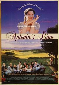 f037 ANTONIA'S LINE one-sheet movie poster '95 Marleen Gorris, feminism!