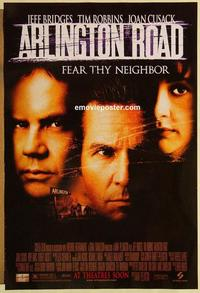 f039 ARLINGTON ROAD DS advance one-sheet movie poster '98 Bridges, Robbins